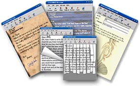 RESUMES, FORMS, INVOICES, LETTERS, MENUS, BROCHURES, STUDENT WORK, FORMS DEVELOPMENT - TYPING SERVICES